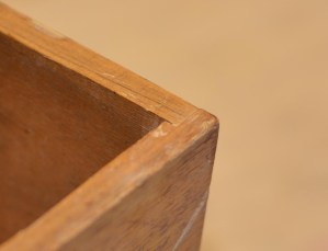 Detail of joinery. Notice the rabbet joint