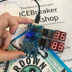 iCEBreaker board during the workshops