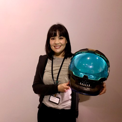 Sophy Wong and her space helmet