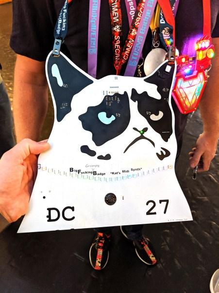 Huge grumpy cat badge