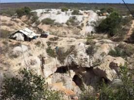 Quartz mining in Brazil