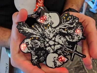 Hack 4 Satan badge DC27 - front