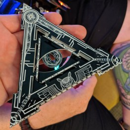 Illuminati badge at DC27