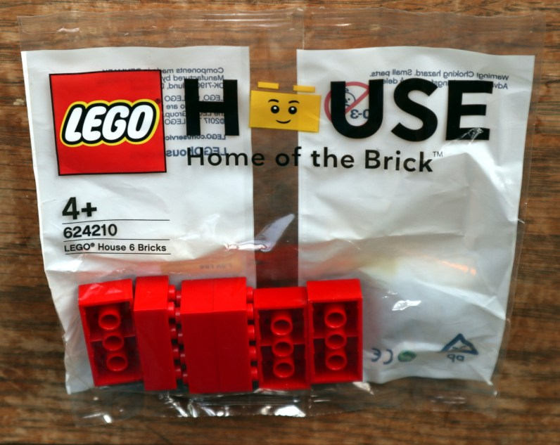 My bag of six bricks, a Lego package you can only get at Lego House.