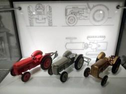 1950s Ferguson tractors modeled by Lego in plastic.