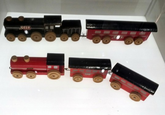 Early wooden Lego trains