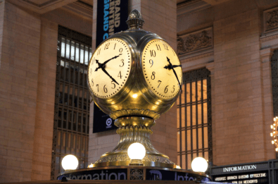 Self Winding Clock Company clocks at Grand Central in NYC