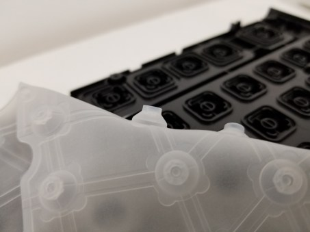 Rubber dome switch for a membrane keyboard