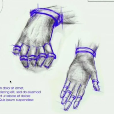Concept drawing for finger ring and bracelet haptic feedback system