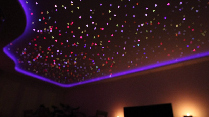 fiber optic ceiling pumps to the beat