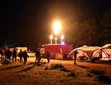 Flamethrowers provided plenty of entertainment