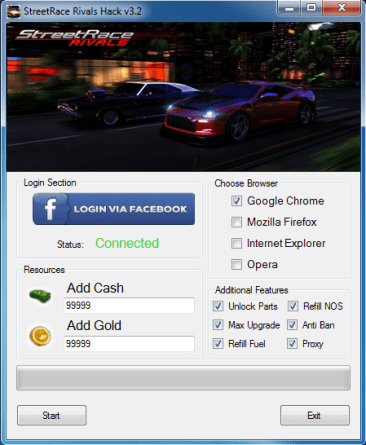 Streetrace Rivals hack Tool Cheats