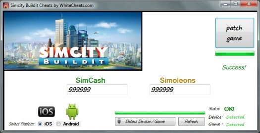 Simcity Buildit Cheats and Hack for Android and iOS