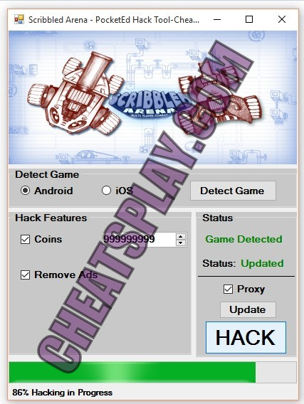 Scribbled Arena PocketEd Hack Tool