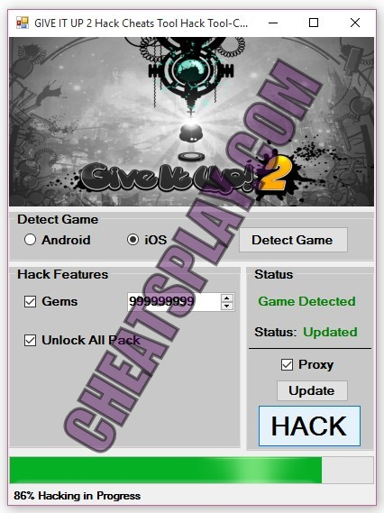 GIVE IT UP 2 Hack Tool