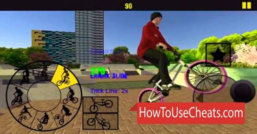BMX FE3D 2 how to use Cheat Codes and Hack Money