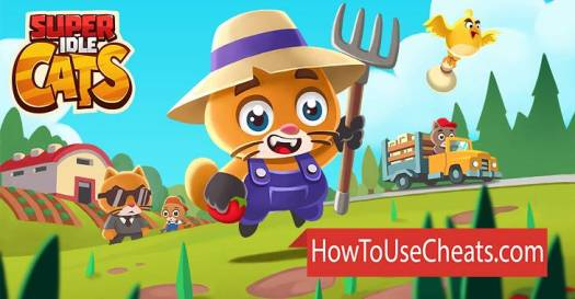 Super Idle Cats how to use Cheat Codes and Hack Coins and Gems