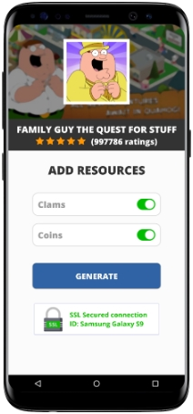 Family Guy The Quest For Stuff MOD APK Unlimited Clams Coins