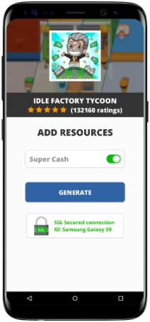 Idle Factory Tycoon MOD APK Unlimited Super Cash