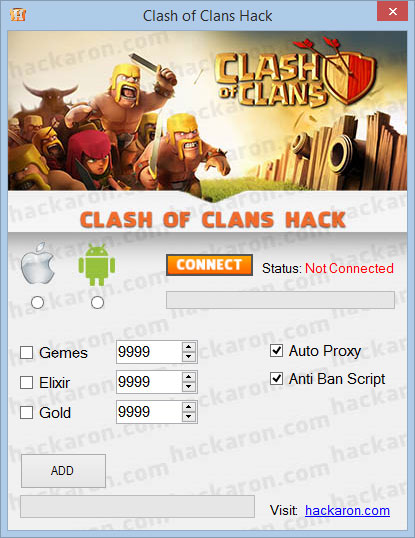 Clash of Clans Hack gold gems elixir