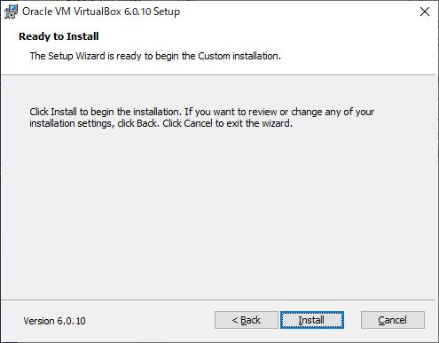 Oracle VM VirtualBox Setup