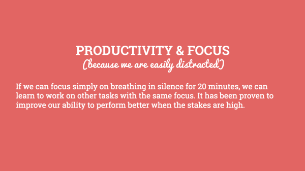 meditation and productivity