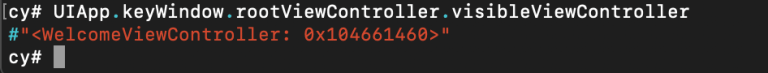 Cycript Runtime Exploration