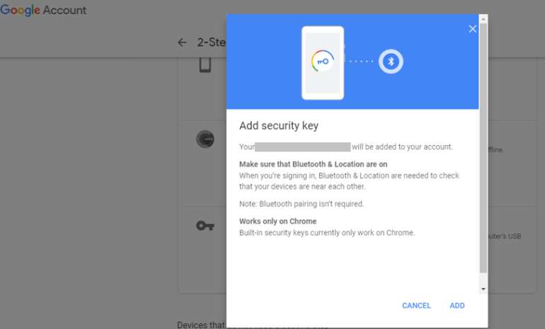 Android Phone Security Key