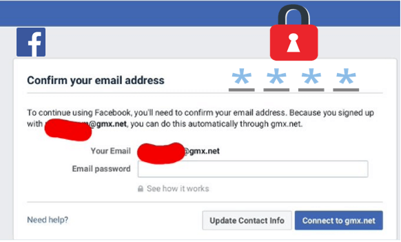 Facebook Email Password