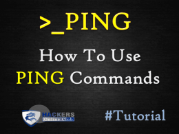 PING Command
