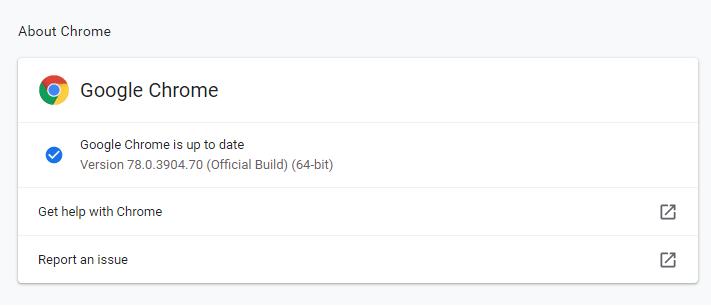 Chrome 78