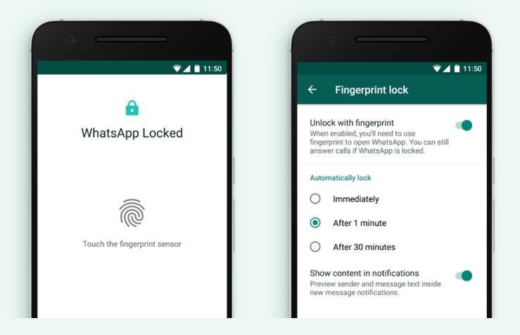 WhatsApp Fingerprint Lock For Android