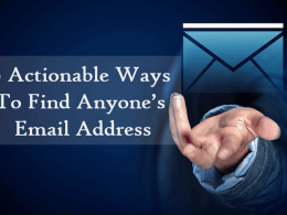 Find Anyone Email Address