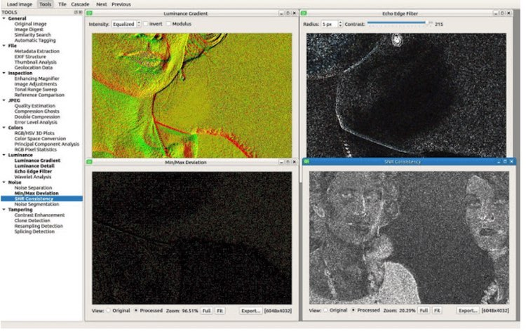 Luminance and Noise: Light Gradient, Echo Edge, Min/Max Deviation and SNR Consistency