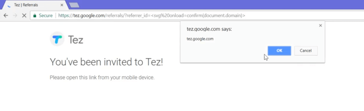 xss on tez site