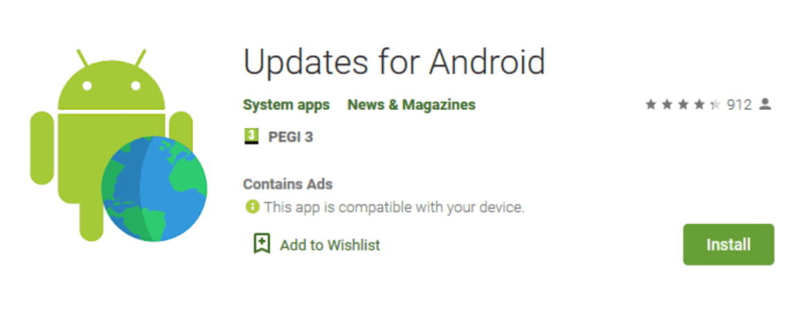 Updates For Android