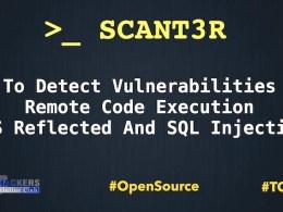 Scant3r Web Scanner