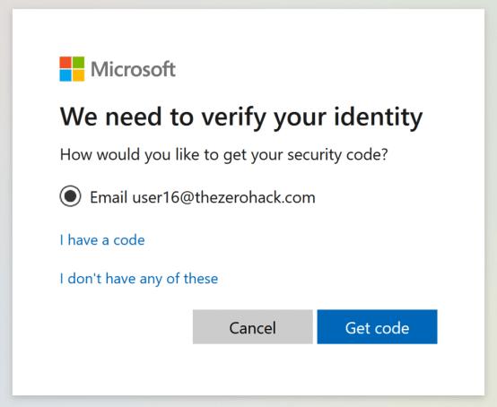 Microsoft Identity Email