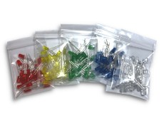 25 Pack LED Bags Assorted Colours Rainbow