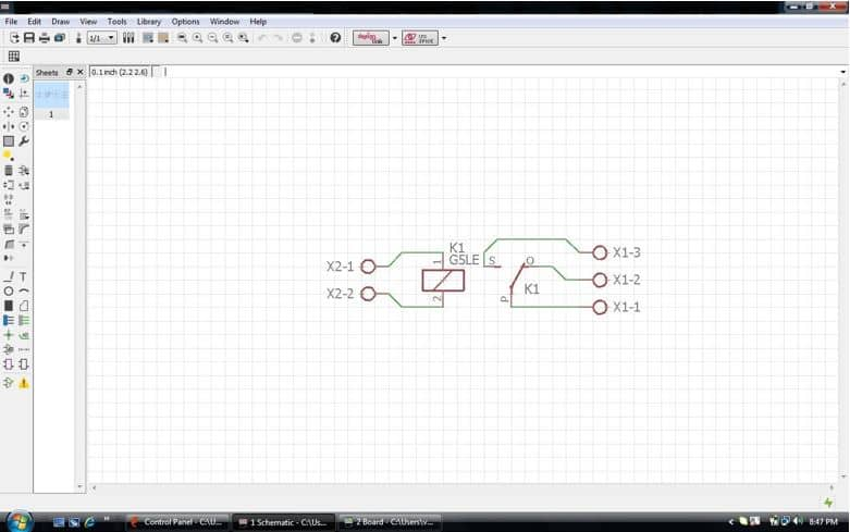 Creating A Simple Relay Board Using Eagle - er Space Tech on potter brumfield relay schematic, allen bradley relay schematic, idec relay schematic,