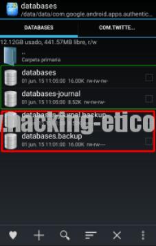 databasesGAuth