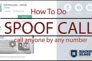 how to do spoof call