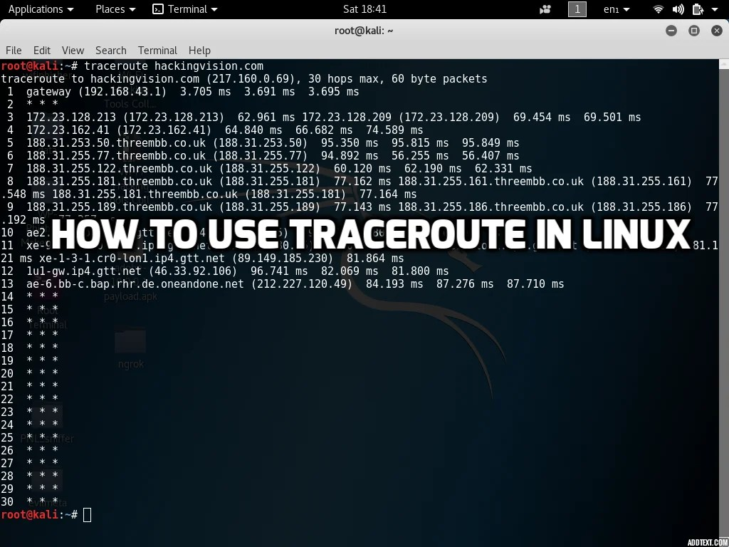 How to use Traceroute Command In Linux - HackingVision