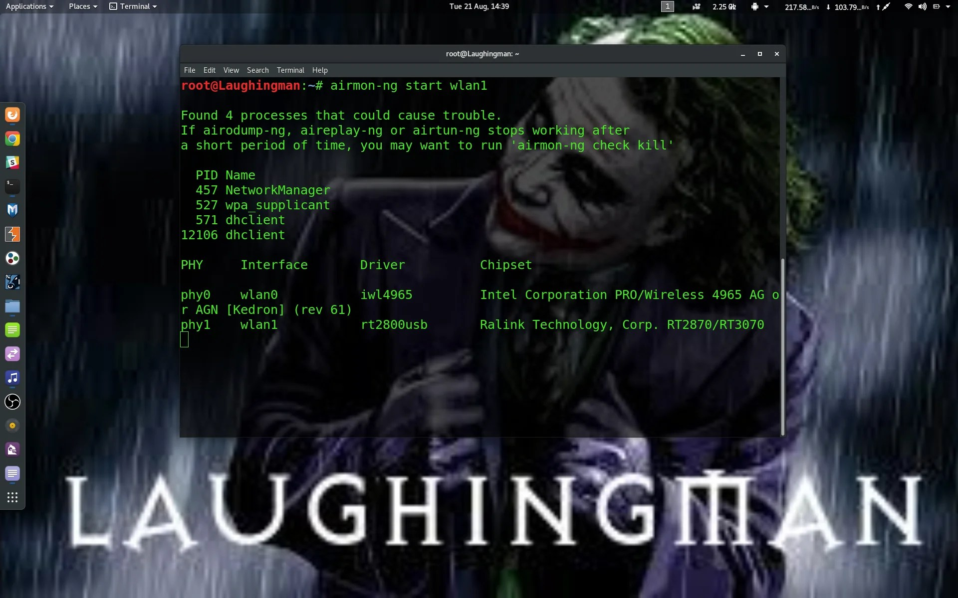 Cracking Wireless Router Using Aircrack-ng with crunch