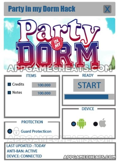 Party in my Dorm Hack for Credits & Notes
