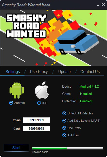 Smashy Road Wanted Hack Tool