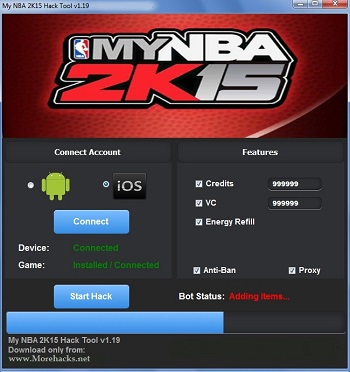My NBA 2k15 Hack Tool