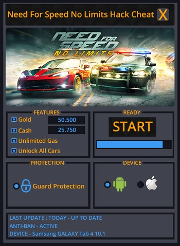 Need for Speed No Limits de triche