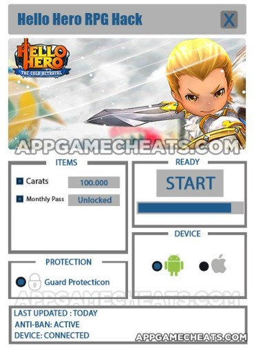 Hello Hero RPG Hack for Carats & Monthly Pass Unlock