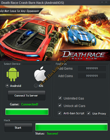 Death Race Crash Burn Hack